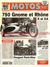 MOTOS D'HIER  28 GNOME & RHÔNE 750 X & XA DKW 500 SB PEUGEOT PARIS-NICE RUMI