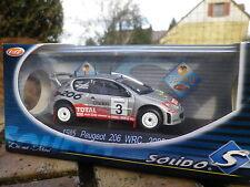SOLIDO RACING PEUGEOT 206 WRC RALLYE 2002 ref 1585 état Neuf en boite