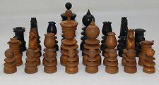 Antique English St.George Ebony & Boxwood Chess Set K=91mm