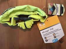 Nathan Mirage Pack Running Belt Rei Sports Expandable Pocket Safety Yellow Black