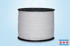 """Electric Fence Polytape 1 1/2"""" X 660' White"""