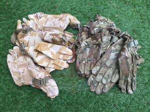 British Army Surplus MTP DDPM Camouflage Leather Hot Weather Combat Glove Odd's