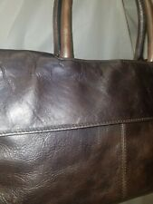 Dillards Kate Landry Leather Purse Handbag Hobo Tote Silver Metallic Rose Gold