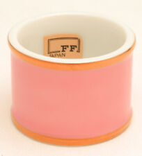 Renaissance Peach by Fitz and Floyd pair of Napkin Rings