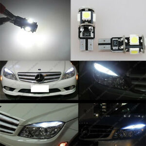 4PCS LED Lights Side Marker Lamps For 08-11 Mercedes Benz W204 C250 C300 C350 CN