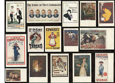 ADVERTISING POSTCARDS.. TUCKS CELEBRATED POSTERS.. ORIGINAL CARDS..PRICED SINGLY
