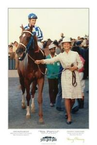SECRETARIAT, Triple Crown Winner, Limited Edition Signed Poster By Penny Chenery