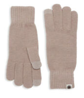NWT UGG Women's Tech Knit Gloves, Dusk (Brown), One Size, Touchscreen Technology