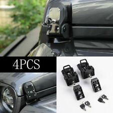 Car Hood Latches Buckle Pins Catch Lock Key Kit For Jeep Wrangler JL 18-19 Parts