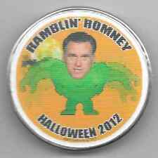 Ramblin' Romney Halloween 2012 motion picture flasher pinback button pin