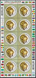 SOUTH AFRICA - 2002 African Union Summit sheetlet (MNH)