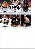 2018-19 Upper Deck Series 2 Hockey Philadelphia Flyers Team Set of 6 Cards