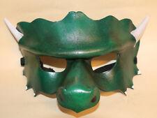 Máscara De Dragón de Jade cuero hecha a mano Veneciana Mascarada