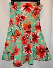 Wet Seal Cute Fit & Flare Strapless Sun Dress Size M Free Shipping Beach Surf