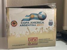 Panini Copa America 2011 Sticker Box 50 Packs NEW Look For Messi Neymar READ!!
