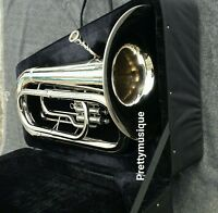 TUBA BIG  EB PITCH BRAND NEW IN SILVER CHROME +HARD CASE+MOUTHPC +FREE SHIPPING