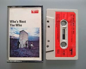 THE WHO - WHO'S NEXT - 1971 CASSETTE TAPE ALBUM