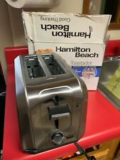 Hamilton Beach Toaster Auto Shutoff Stainless Steel 2 Slice HIGH LIFT