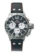 TW Steel Men's Canteen TWCS7 Quartz Chronograph Strap Watch - Black/Silver.