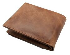 Brown Handcrafted Cowhide Genuine Leather Men's Bifold Premium Wallet