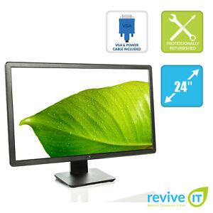 "Dell E2414H 24"" 1920x1080 16:9 LED-LCD Monitor VGA DVI Grade B"