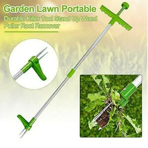 Standing Plant Root Remover Weed Puller Extractor Weeder Home Gardening Lawn