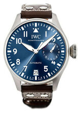 IWC Big Pilot Edition Le Petit Prince Blue Dial Leather Automatic Watch IW500916