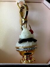 NWT Juicy Couture Dessert Ice Cream Sundae Jewelry Gold Plated Bracelet Charm