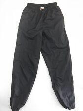 Vintage 90s Nike Size XL Windbreaker Pants Track Jogger Nylon Black OG Swoosh