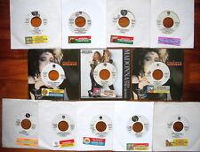 """MADONNA Who's that girl 45giri 7"""" PROMO JB + Tagliando originale/sticker"""