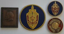 Lot of 3: Russia KGB Vladimir Lenin CIA Cold War Counterpart 2 Coins & 1 Patch