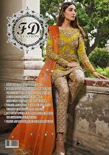 Pakistani indian 2019 Latest Wedding Embroidery Collection Shalwar Kameez Suit 2