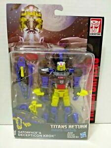 Transformers Titans Return Deluxe Class Gatorface & Decepticon Krok