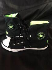 Converse, High Tops, Black/Neon Green Size UK 4
