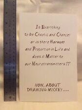 Original John Hench Design Holiday Card Walt Disney Imagineering 1998