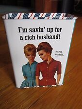 Funny Bank Piggy Tin Single Girl Husband Hunting Sugar Daddy Joke Humor