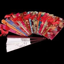 Wholesale 10pc Chinese Handmade Silk Folding Hand Fan Pouch Chopstick Cover Case