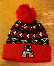 Red/Navy Unisex Bobble Hat Age 3-6 Years **NEW**