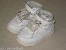 NIKE AIR FORCE I TODDLER BOYS WHITE MID HIGH SLIP ON SHOES SIZE 5 GREAT
