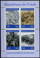 Chad 2019 MNH WWI WW1 2nd Battle of Somme 4v M/S Military War Stamps