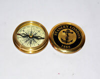 "Antique vintage brass compass 3"" maritime marine poem compass good gift item"