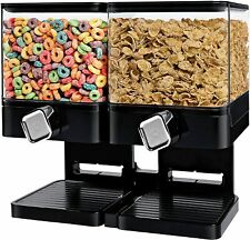 Large Cereal Dispenser Storage Double Dry Food Snack Container Kitchen Canister.