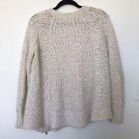 Anthropologie Moth Knit Side Zip Swing Sweater Size M