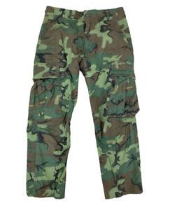 Vintage 60s US Military ERDL Camo Ripstop Jungle Combat Pants Trousers 30x28 EUC