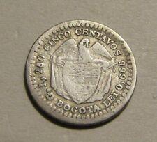 Colombia 1874 5 Centavos Silver Coin
