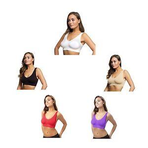 JML Belvia Seamless Bra, Ultra Comfortable BNWT White, Beige, Black, Red, Purple