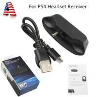 For Sony Playstation 4 PS4 3.5mm bluetooth Headset Audio Adapter USB Receiver US
