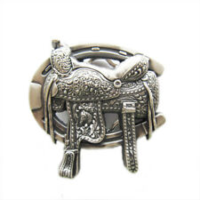 New Vintage Silver Plated Rodeo Saddle Western Belt Buckle also Stock in US