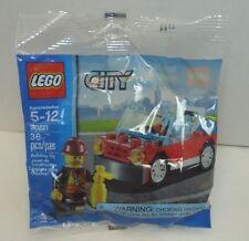 Lego City Fire Car Fireman Mini Figure 30221 Sealed Poly Bag New