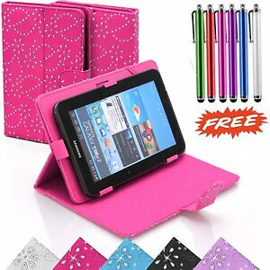 """Shiny Magnetic Flip Book Case Cover Stand Fits Various 10"""" / 10.1"""" Inch Tablets"""